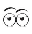 bored eyes cartoon vector image vector image