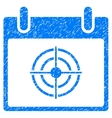 Bullseye Calendar Day Grainy Texture Icon vector image vector image