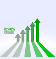 business success and growth chart arrow concept vector image vector image
