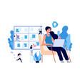 businesswoman working self management brainstorm vector image vector image