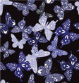 butterflies silhouette pattern vector image
