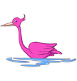 cartoon flamingo vector image vector image