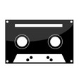 cassette tape icon on white background vector image vector image
