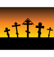 cemetery night vector image vector image
