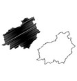central kalimantan map vector image vector image
