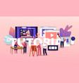 characters watch video online tutorial courses vector image vector image