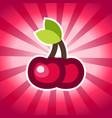 cherry icon design vector image vector image
