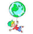 collection of world with child vector image vector image