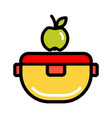 color lunch box icon vector image