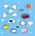 comics style template background vector image vector image