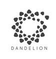 concept cloud dandelion logo vector image vector image