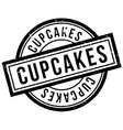 Cupcakes rubber stamp vector image vector image