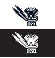 design logo motor gasoline vector image