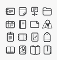 Different paper stuff icons set with rounded vector image vector image
