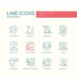 Disasters - line design icons set vector image vector image