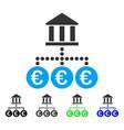 euro bank transactions flat icon vector image vector image
