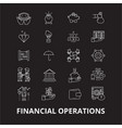 financial operations editable line icons vector image vector image