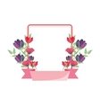 flower frame icon vector image