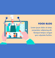 food cooking tutorial blog flat banner template vector image vector image