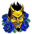 graphic image a demon or devil mascot vector image vector image