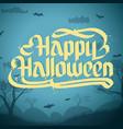 happy halloween typographical concept vector image
