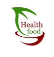 Health vegetarian food icon vector image vector image