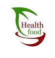 Health vegetarian food icon vector image vector image