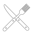 Isolated cutlery design vector image vector image