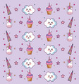 kawaii pattern design vector image vector image