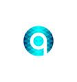 letter q technology logo designs inspiration vector image vector image