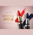 lipstick advertising banner concept vector image