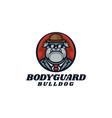 logo bodyguard bulldog mascot cartoon style vector image