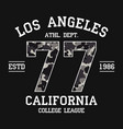 los angeles california t-shirt design vector image vector image