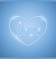 love neon sign blue vector image vector image