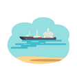 marine means of transport vector image vector image