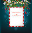 merry christmas invitation vector image vector image