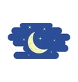 Night sky crescent and stars icon cartoon style vector image vector image