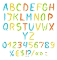Painted english alphabet vector image vector image