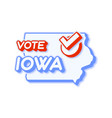 presidential vote in iowa usa 2020 state map vector image vector image