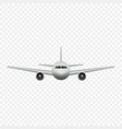 realistic airplane isolated front view vector image vector image