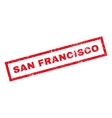 San Francisco Rubber Stamp vector image