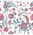 seamless floral background tracery handmade vector image vector image
