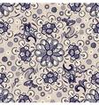seamless floral pattern vintage vector image vector image