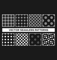 seamless pattern with circles ovals vector image vector image