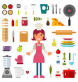 Set of Icons and in Flat Design Style Profession vector image vector image