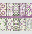 set of ten seamless abstract patterns vector image vector image