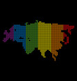 spectrum dotted lgbt eurasia map vector image vector image
