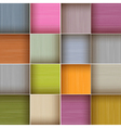 Square Colorful Wooden Abstract Background vector image vector image