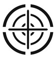 svd gun aim icon simple style vector image vector image