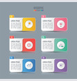 timeline infographic concept with 6 options vector image vector image